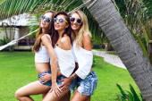 women friends having fun together