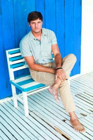 Handsome man posing outdoor