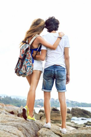 couple travel together in summer time