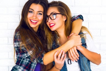 two pretty teen girlfriends