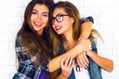 two pretty teen girlfriends
