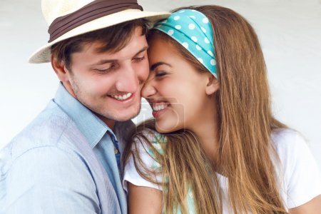 young smiling beautiful couple