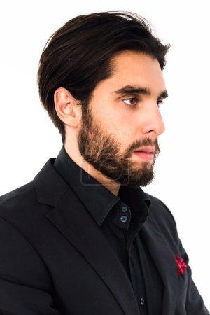 handsome brutal man with beard