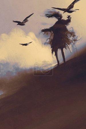 Ghost of desert,illustration