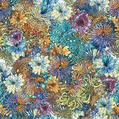 Květinový vzor bezešvé, krásné tapety s barevnými květy