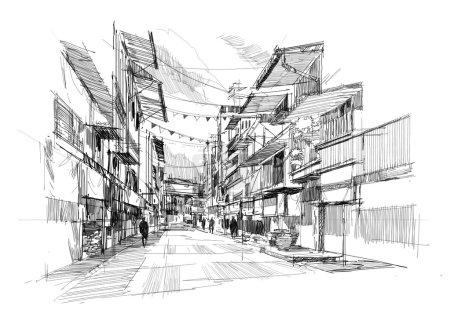 old street market