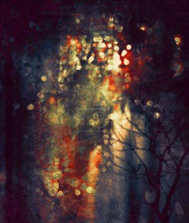 Bokeh abstract digital painting