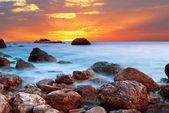 Beautiful sunset at the seaside