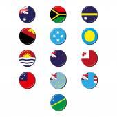 "Постер, картина, фотообои ""Океании флаги значки"""