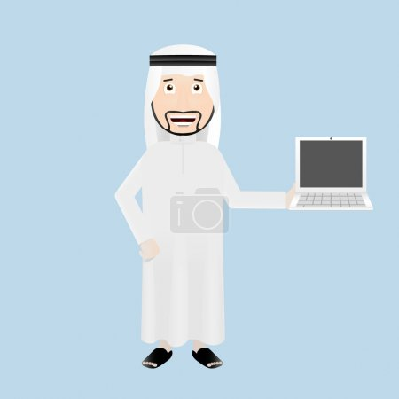 Arabic businessman with laptop
