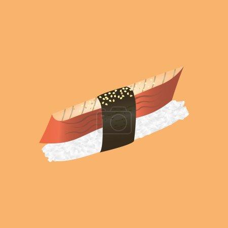 Isolated sushi with eel