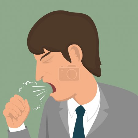 Coughing man icon