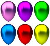purple,blue, green, yellow, pink and red birthday balloon elements