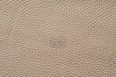 Photo for Closeup of seamless beige leather texture for background - Royalty Free Image