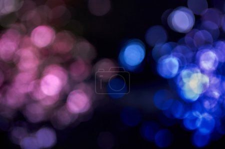 pink and blue lights blurred