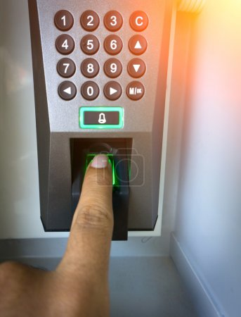 The system scans the fingerprint security systems