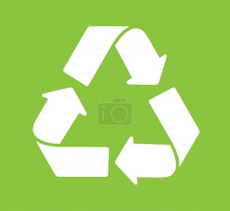 Green Recycle logo vector