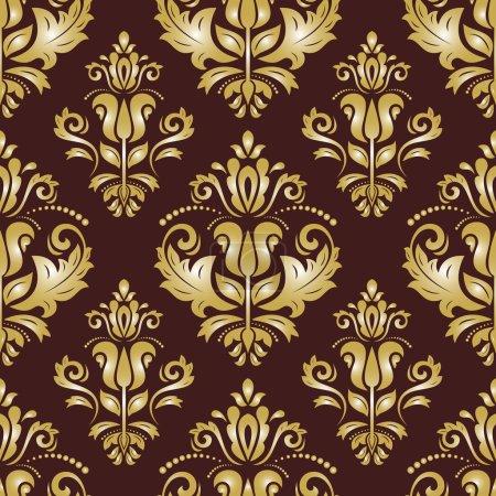 Photo pour Motif oriental avec Damas, arabesque et éléments floraux. abstrait sans soudure - image libre de droit