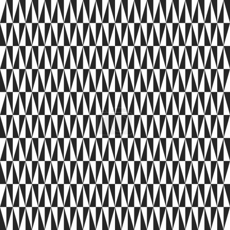 Foto de Geometric  pattern with triangles. Seamless abstract texture for wallpapers and backgrounds. Black and white colors - Imagen libre de derechos