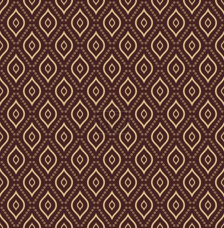 Foto de Geometric pattern. Seamless  background with golden elements. Abstract texture for wallpapers - Imagen libre de derechos