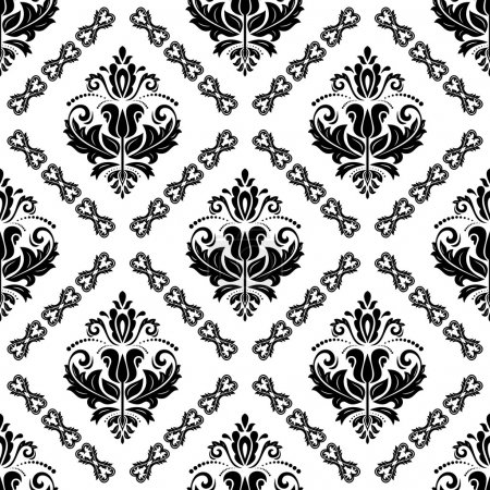 Seamless Vector Wallpaper in the Style of Baroque