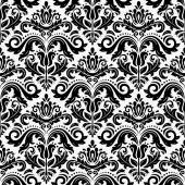Oriental vector fine classic pattern Seamless abstract black and white background