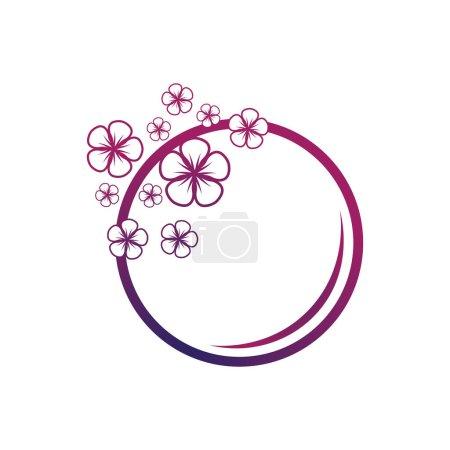 Illustration for Flower vector icon design template illustration - Royalty Free Image