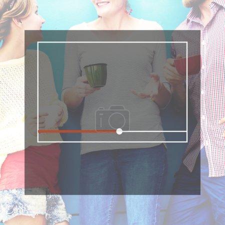 Streaming Broadcast Digital Internet Concept