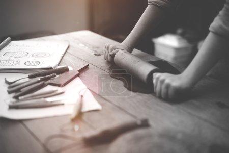 Craftsman Artist Pottery Skill