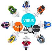 Virus Internet Security Phishing Spam koncept