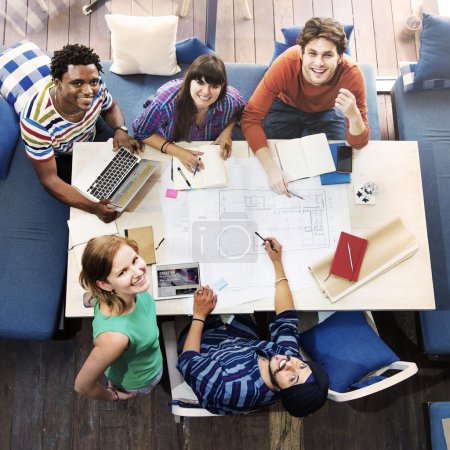 Diverse of Architect People Group Concept