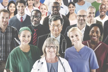 Photo for Medication Profession Occupation Team Smiling Concept - Royalty Free Image