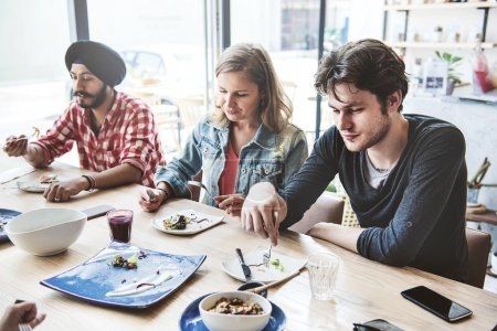 People Sharing Food, Meal Concept
