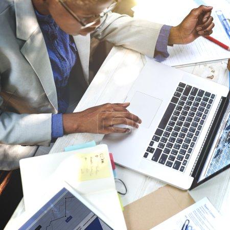 Businesswoman at Laptop Concept