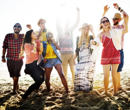 Teenagers Friends at Beach Party Concept