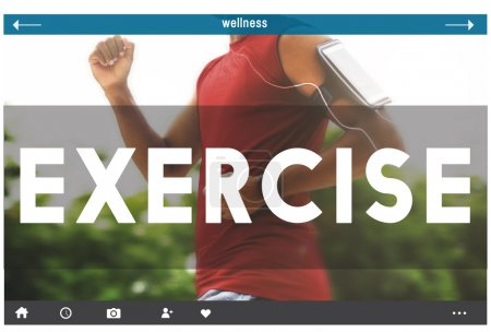 template with exercise concept
