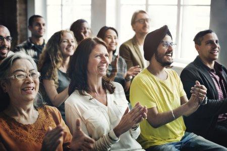 diversity people applauding