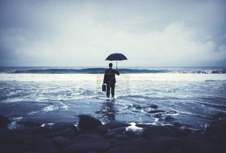 Lonely Businessman  Concept