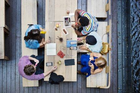 Students Friendsat  Meeting Concept