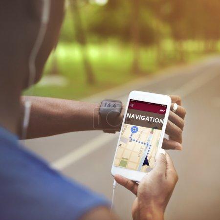Navigation sign on Smart Phone