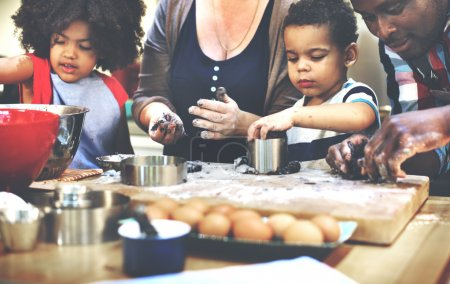 Family Cooking at Kitchen Concept