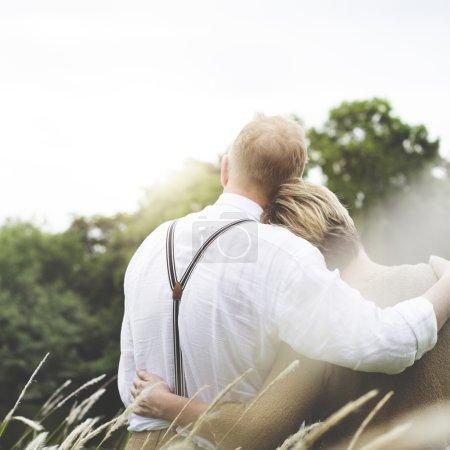 Couple Wife and Husband hugging