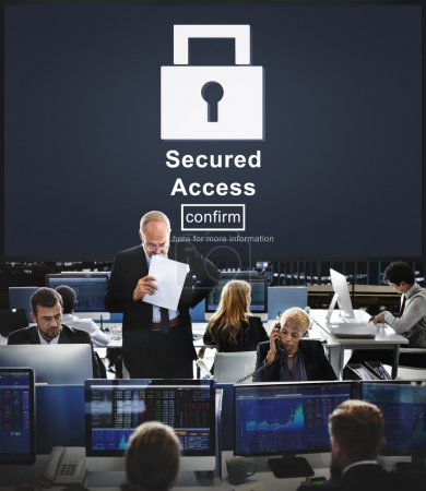 Business workers and Secured Access