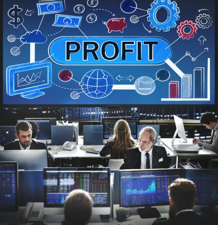 Business workers and profit