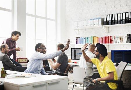 Diversity people working in office