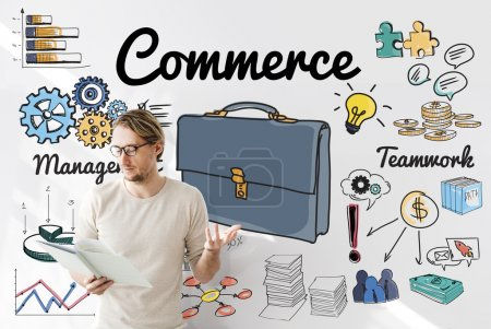 businessman working with commerce