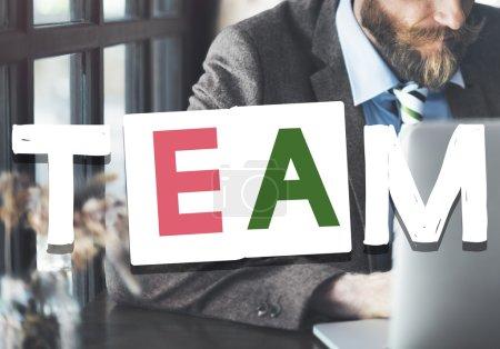 man and Teamwork Concept