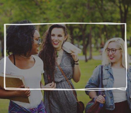 Women Friends in park