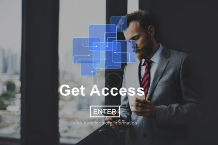 man and Get Access Attainable Availability Concept