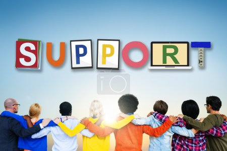 Multiethnic People and Support Concept